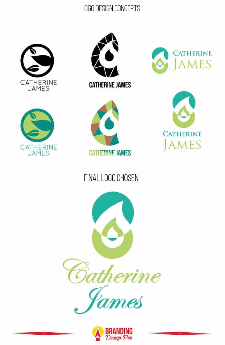 Cathrine James Logo Design