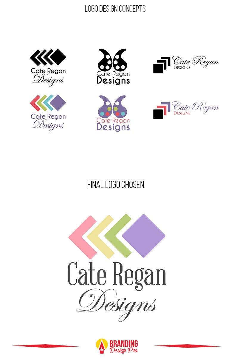Seattle Logo Design Cocepts For Cate Regan Designs