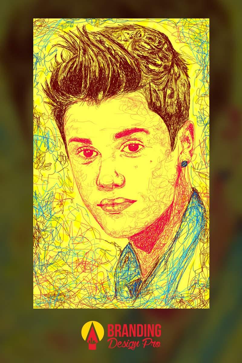 Graphic Designer | Digital Drawing of Justin Bieber