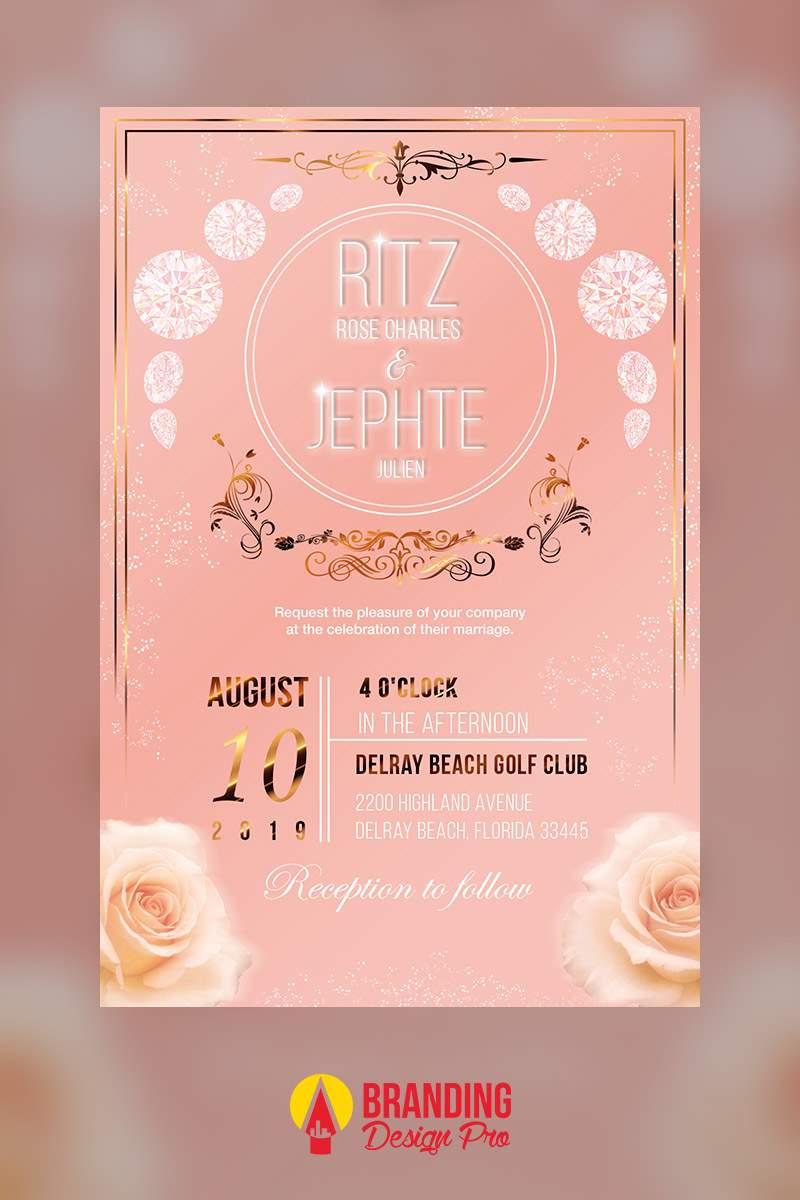 Graphic Designer For Hire | Wedding Invitation Design