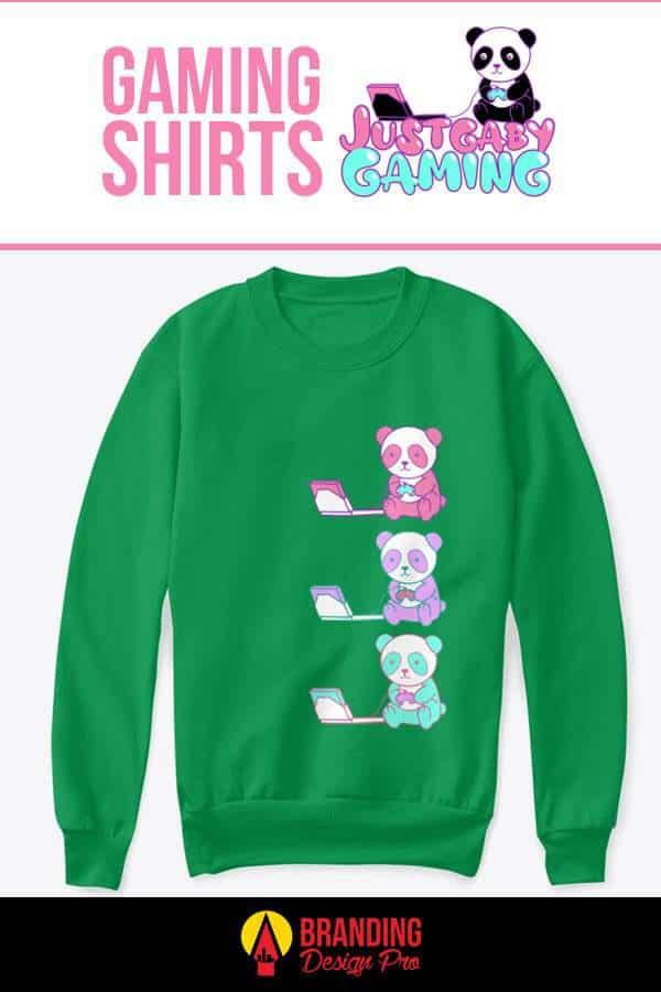 Gaming Sweatshirt - Tricolor Panda