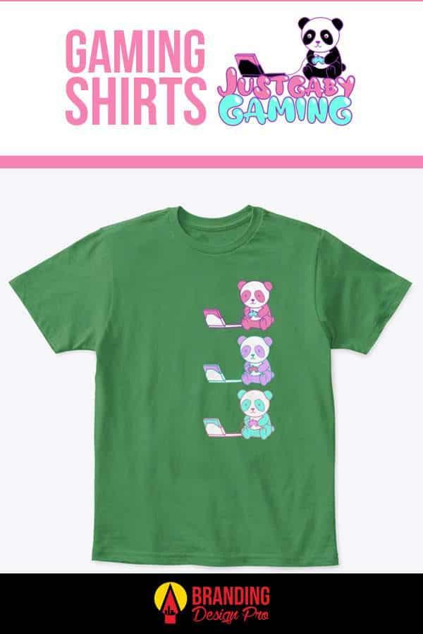 Gaming T Shirt - Tricolor Panda