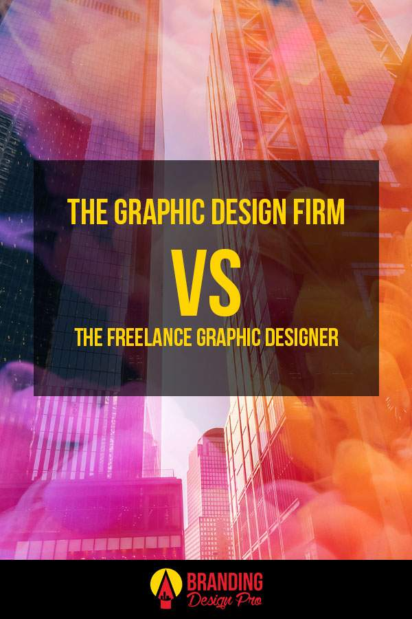 graphic design firm vs a freelance graphic designer